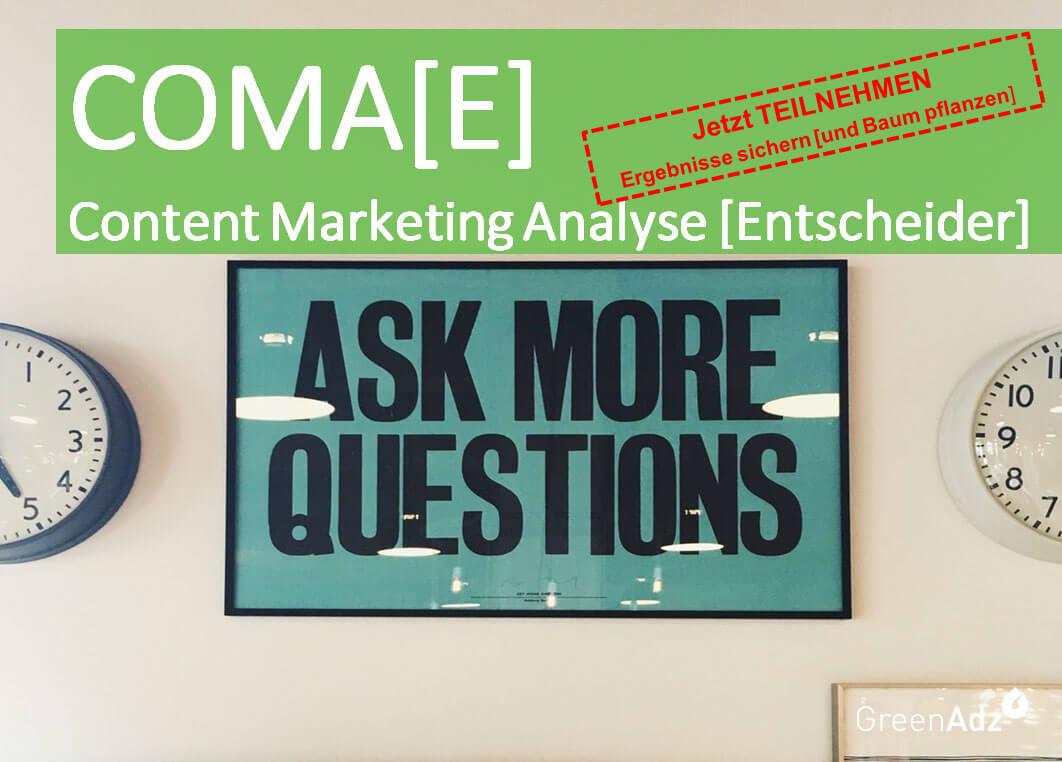 Content Marketing Analyse Entscheider - jetzt teilnehmen